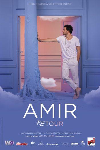Amir Retour affiche concert les arènes de metz