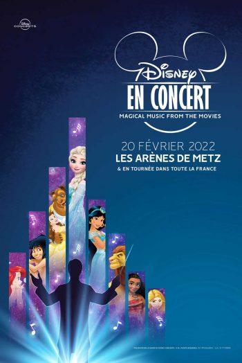 Affiche Disney en concert tournée les arènes de metz