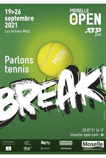 Tournoi de tennis ATP 250 2021 break les arènes de metz